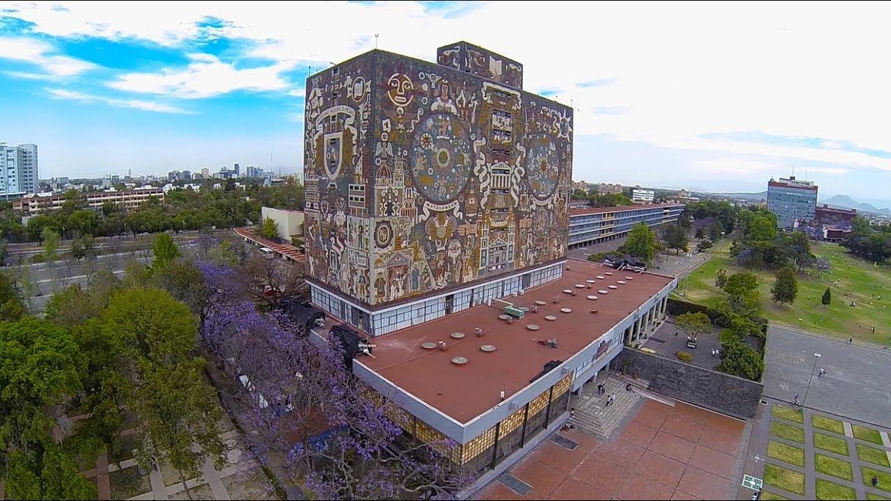 fotografía aérea de la UNAM