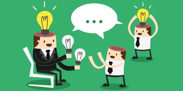 grupo de personas con ideas