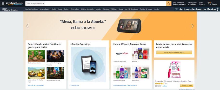 Página de inicio de Amazon México