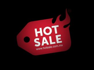 logotipo de Hot Sale en fondo negro
