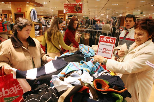 oferta en tienda de ropa